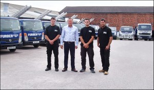 Left to Right; Karl Furber, David Furber, Craig Furber, Joe Furber